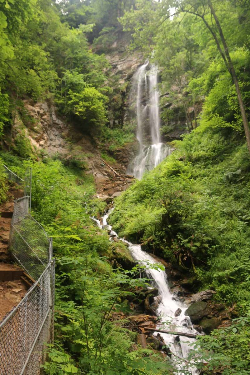 The last of the Finsterbach Waterfalls