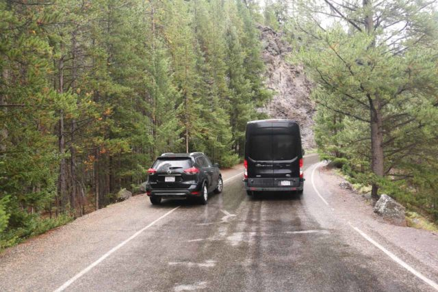 Firehole_Canyon_Drive_001_08142017 - Pulling over and letting someone pass while on the one-way Firehole Canyon Drive
