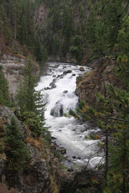 Firehole_Canyon_Drive_028_08142017 - Unusual view of the Firehole Falls from a little further downstream from the sign
