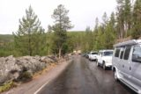Firehole_Canyon_Drive_057_08142017 - There was limited parking space along the Firehole Canyon Drive for the Firehole Swimming Area during our August 2017 visit