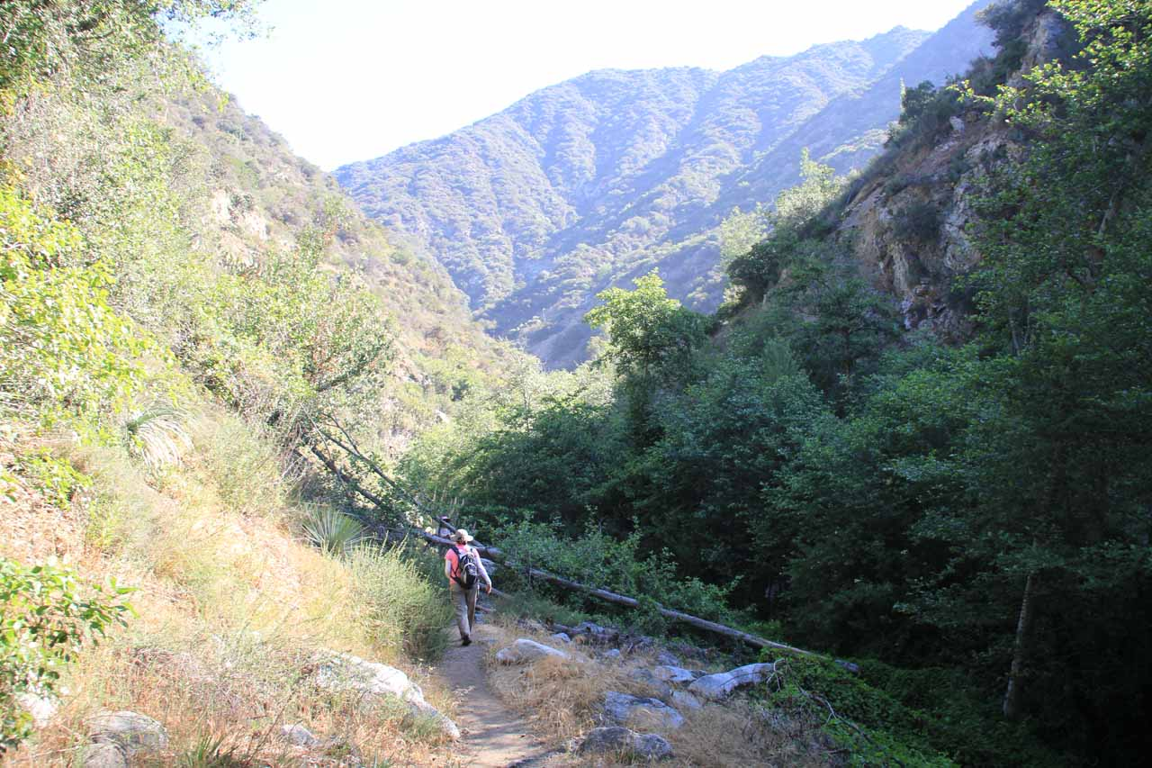 On the Fish Canyon Trail as we were about to leave the shadowy part