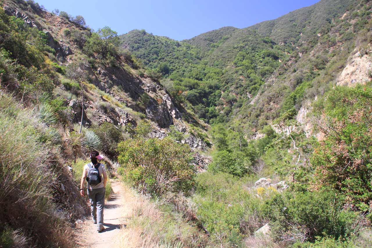 Starting the hot hike back to the trailhead