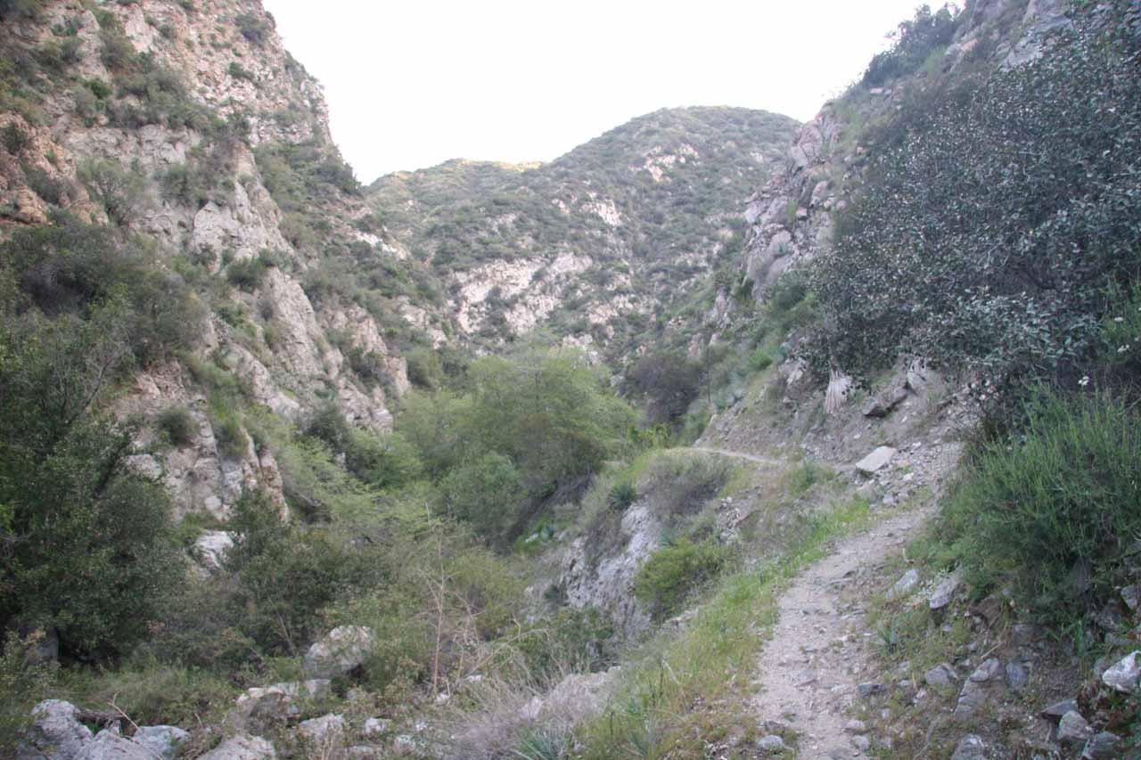 Fish canyon narrowing in