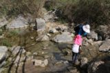 Fish_Canyon_Falls_072_02132016 - The only unbridged stream crossing on the hike to Fish Canyon Falls in February 2016. Our daughter needed a little assistance from her grandma.