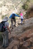 Fish_Canyon_Falls_085_02132016 - On the final ascent before reaching Fish Canyon Falls in February 2016, we had to traverse this little rocky section that could be a bit tricky and dangerous when wet