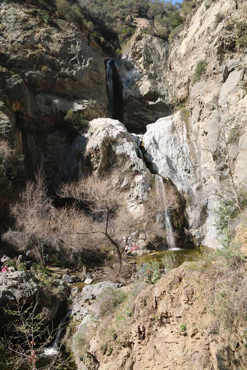 Last look at all the tiers of Fish Canyon Falls in seemingly average flow in mid-February 2016