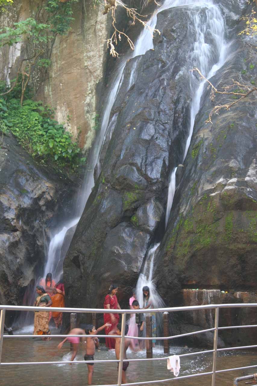The ladies only side of the Kutralam Five Falls