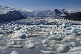 Fjallsarlon_106_08082021 - Closer look across the field of icebergs floating on Fjallsarlon