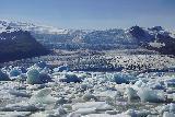 Fjallsarlon_146_08082021 - Another contextual look across the jumble of icebergs on Fjallsarlon towards the Fjallsjokull