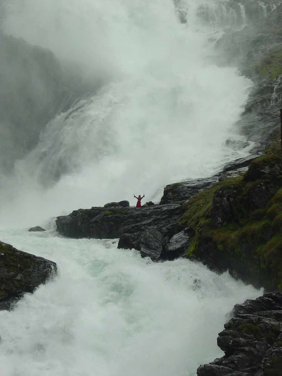 A closer look at a fairy of Kjosfossen in the middle of the falls doing her dance