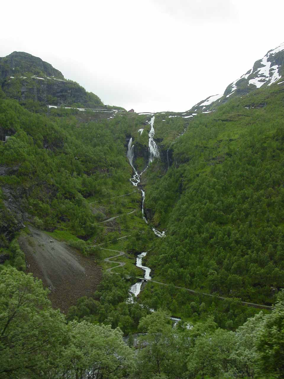 Frontal view of Myrdalsfossen as we were headed back to Flam