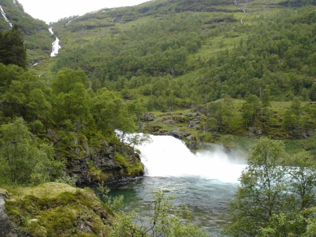Flam_059_jx_06272005 - Kårdalsfossen seen from where we turned around during our self-tour of Flåmsdalen even though we unknowingly drove past Blomheller when we weren't supposed to