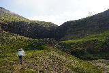 Flogufoss_032_08092021 - Mom starting to ascend a hill getting us even closer to Flögufoss