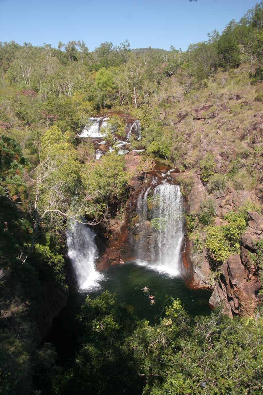 View of Florence Falls from the overlook by the car park