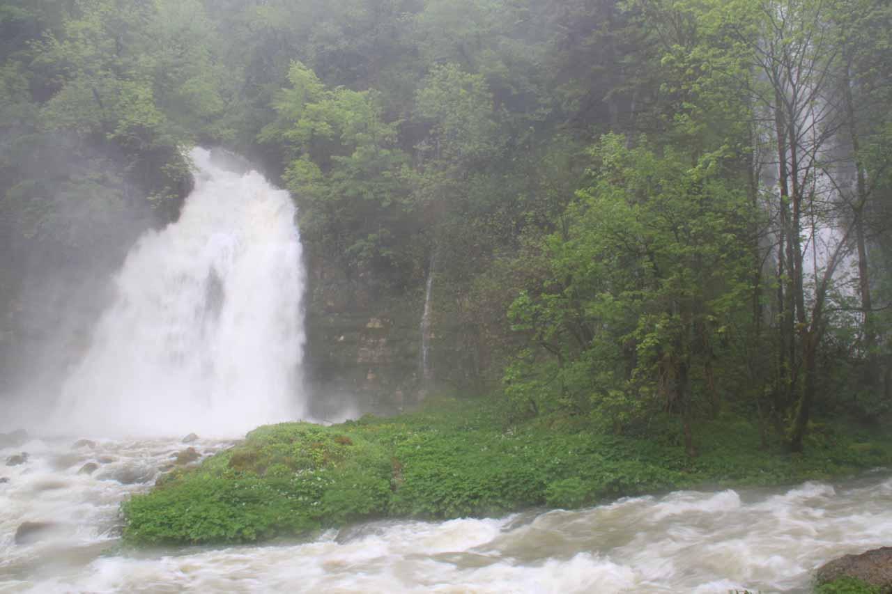 The third waterfall of Cascade de Flumen