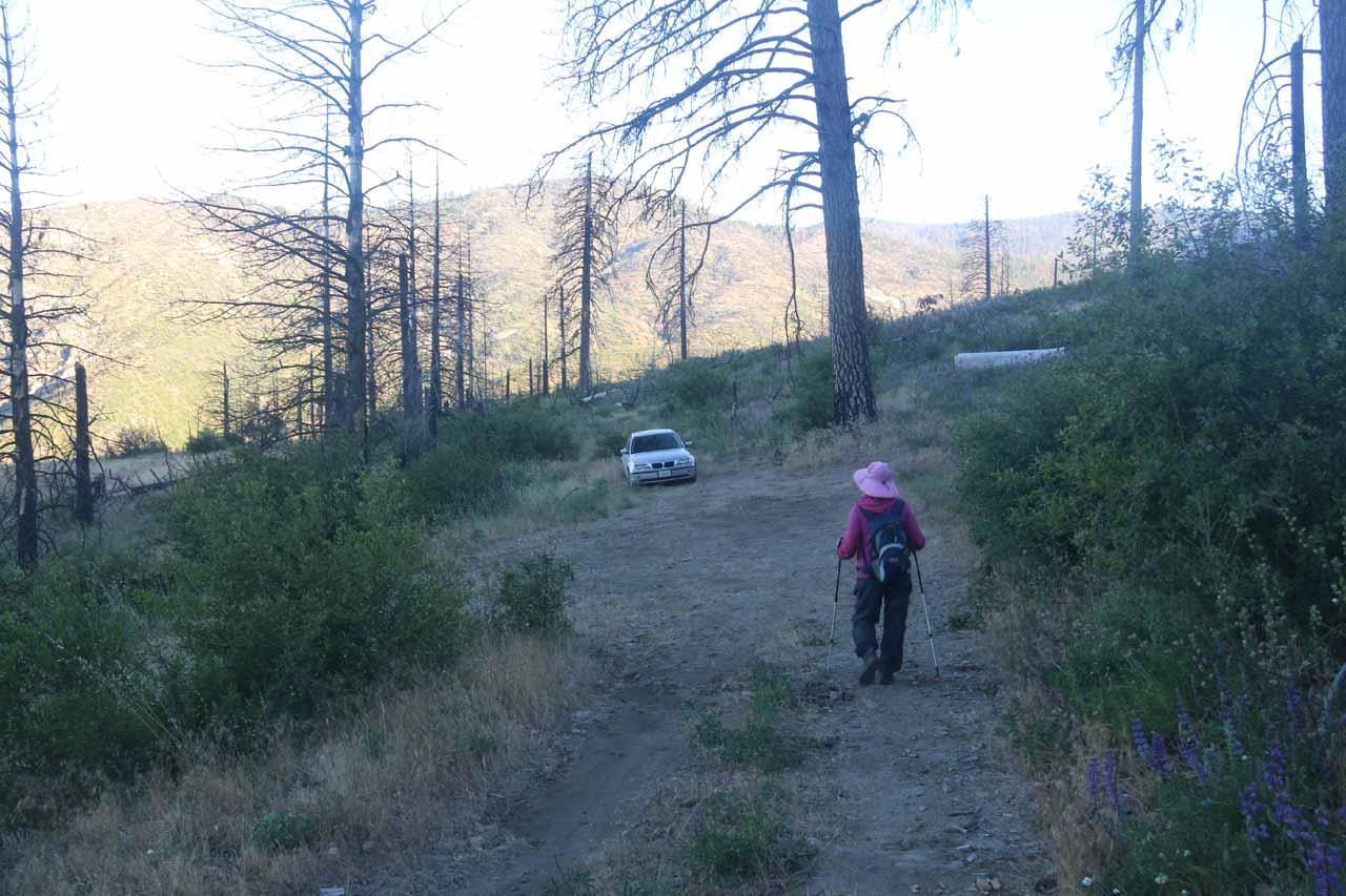 That said, one person managed to drive his BMW down to this switchback