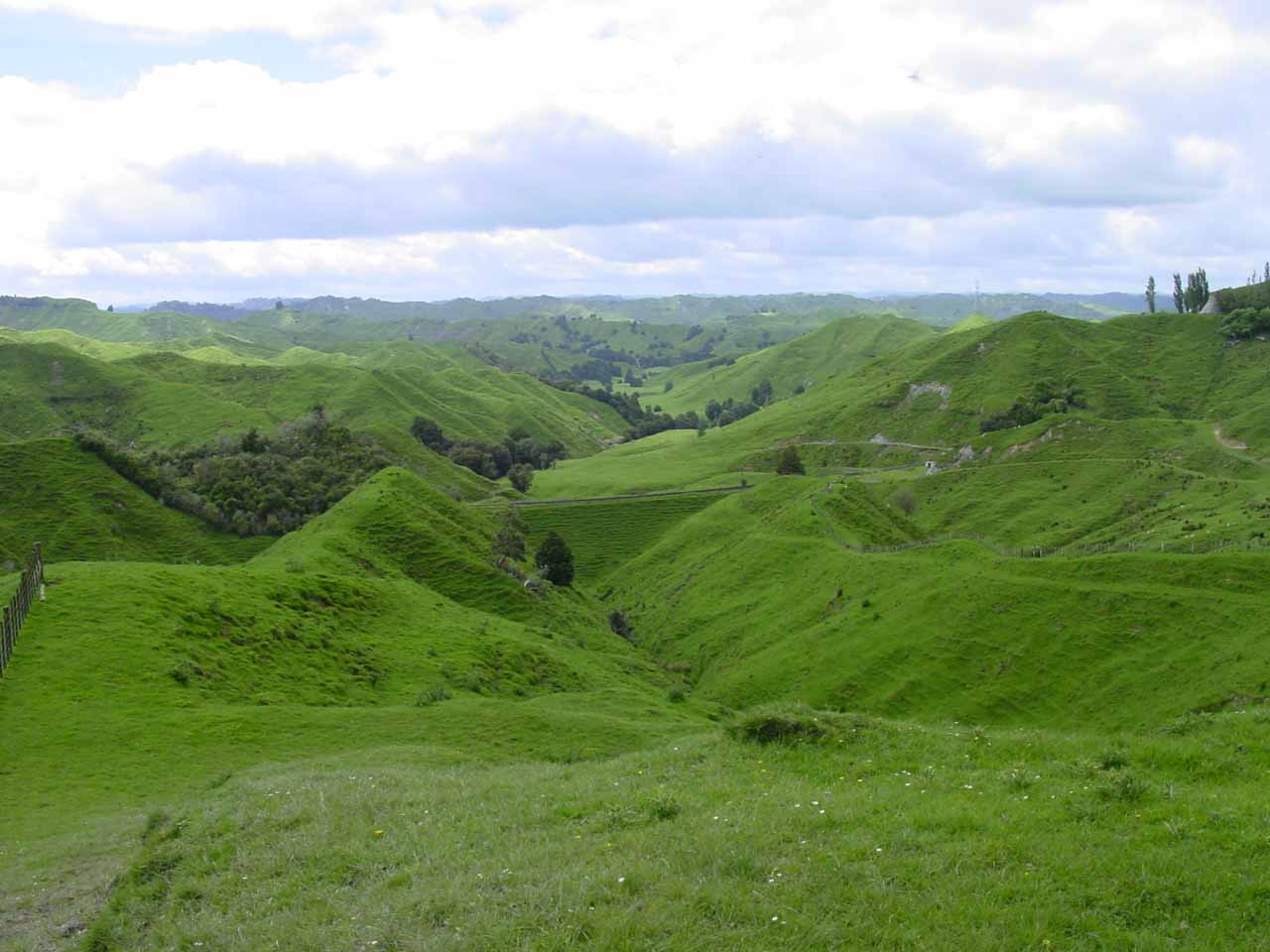 On one of the bad weather days, we drove the Forgotten World Highway where we checked out the greener pastures and rolling hills of King County on the way to Mt Taranaki