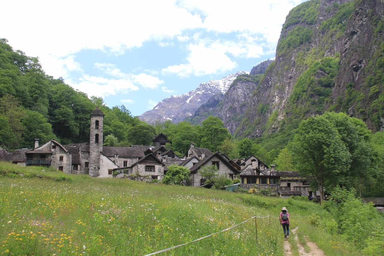 Julie headed back to the picturesque village of Foroglio