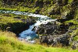 Forsaedalur_034_08162021 - Zoomed in look down at the context of Stekkjarfoss and the adjacent fish ladder
