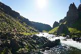 Forsaedalur_091_08162021 - Tahia continuing to scramble further upstream along the Vatnsdalsa towards Dalsfoss