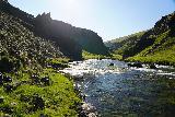 Forsaedalur_098_08162021 - Continuing ahead on the scrambling route alongside Vatnsdalsa towards Dalsfoss