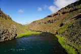 Forsaedalur_155_08162021 - Looking downstream from the bluff above the intermediate cascade preceding Dalsfoss