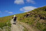 Forsaedalur_292_08162021 - Mom encountering sheep while hiking back towards the Forsaedalur Farm