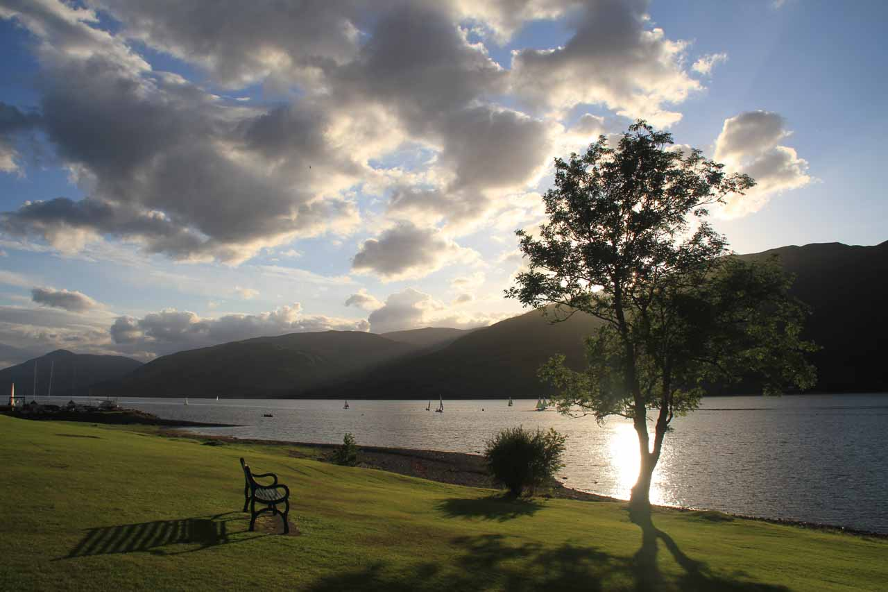 Roughly 15 minutes drive from the trailhead for Steall Falls was the scenic town of Fort William right on the shores of Loch Linnhe