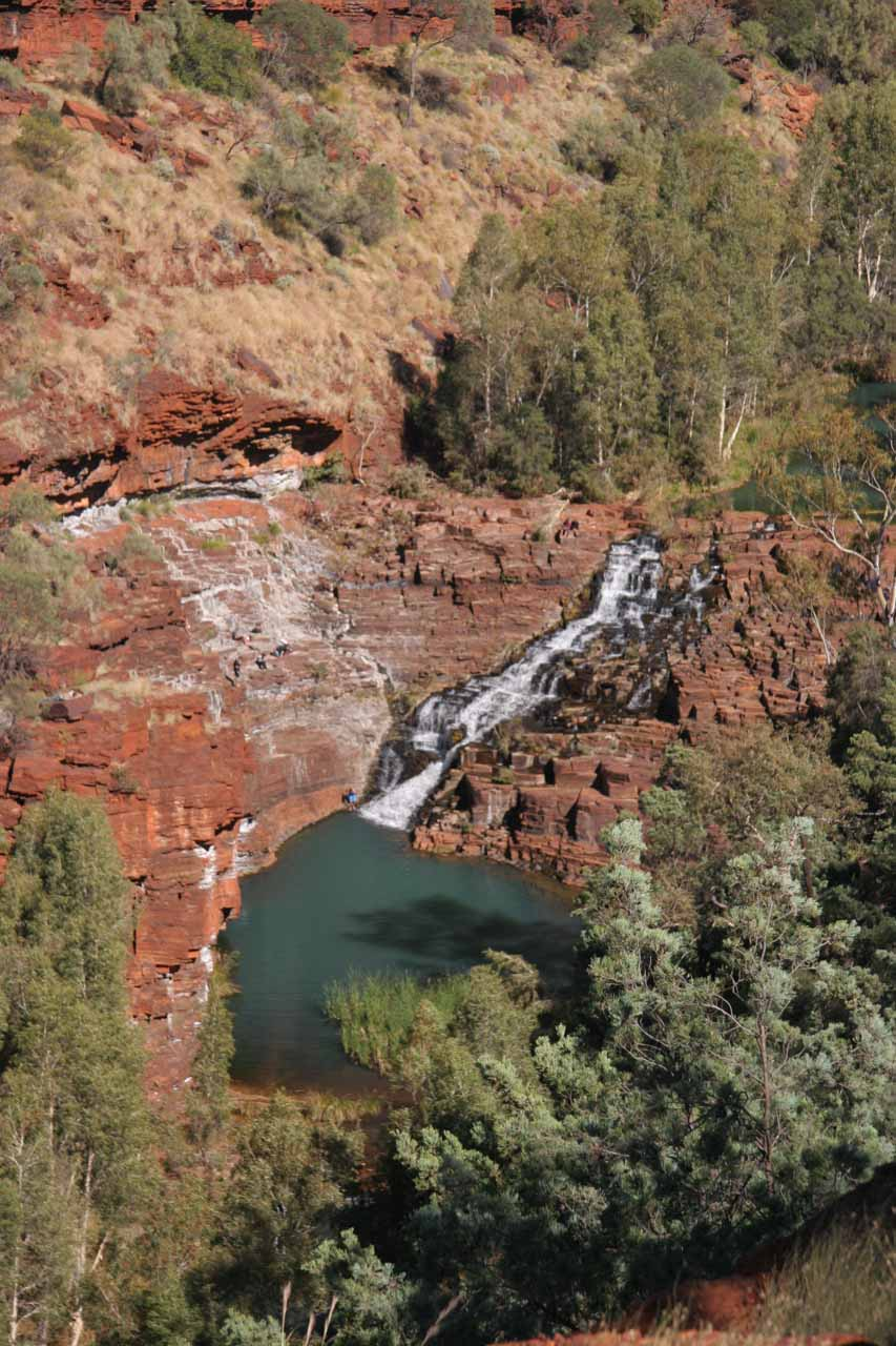 Looking down at Fortescue Falls