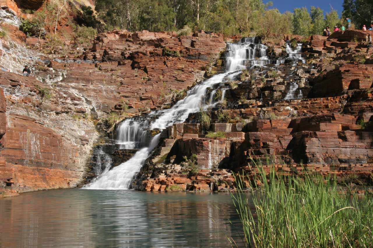 At the base of Fortescue Falls