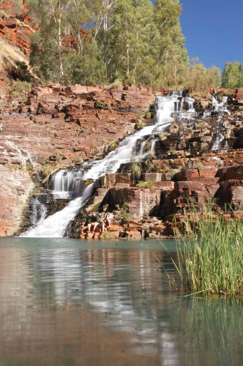 Another look at the serene Fortescue Falls from its base