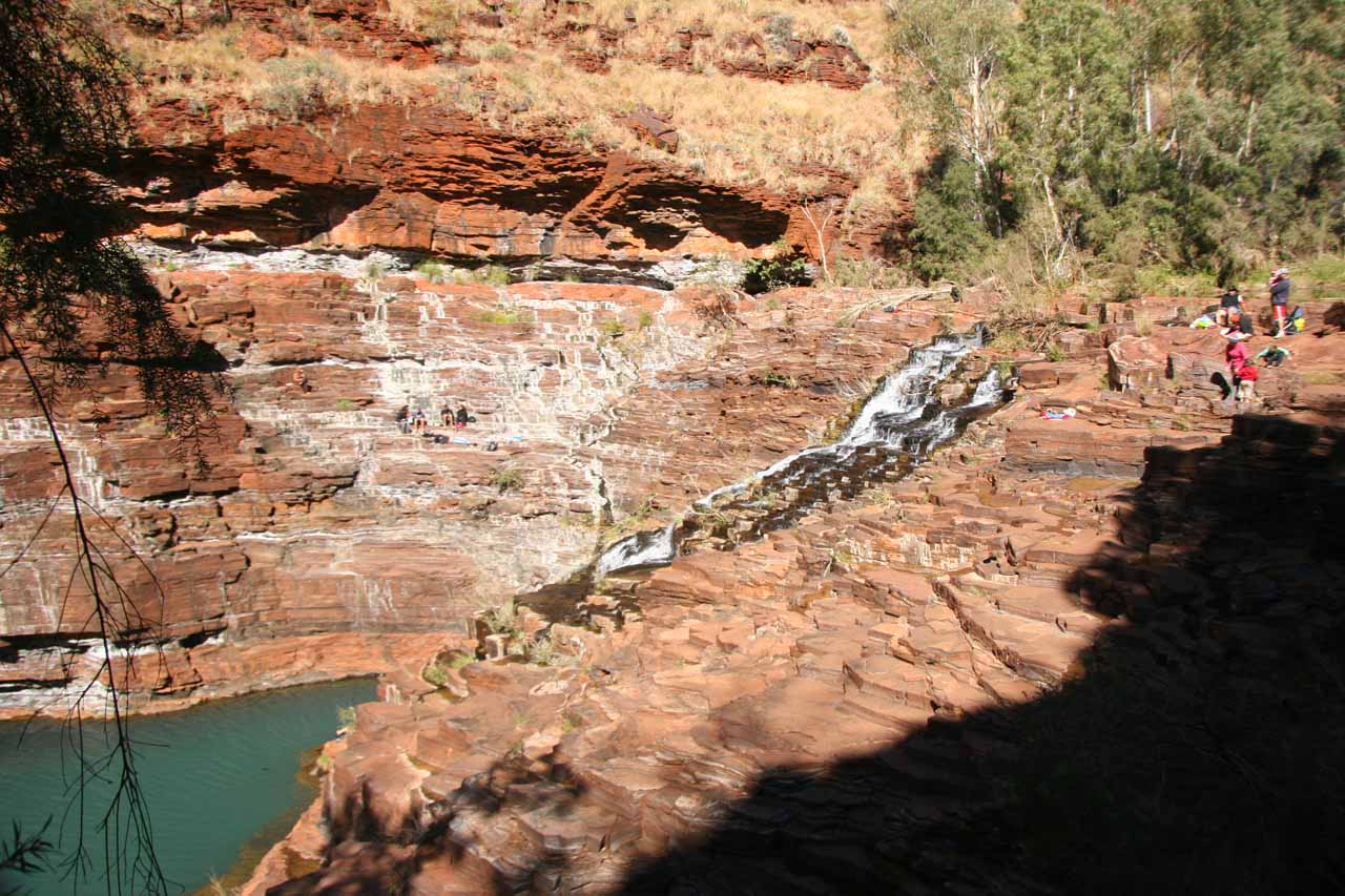 View of the Fortescue Falls while we were descending and ascending the class 2/3 scramble