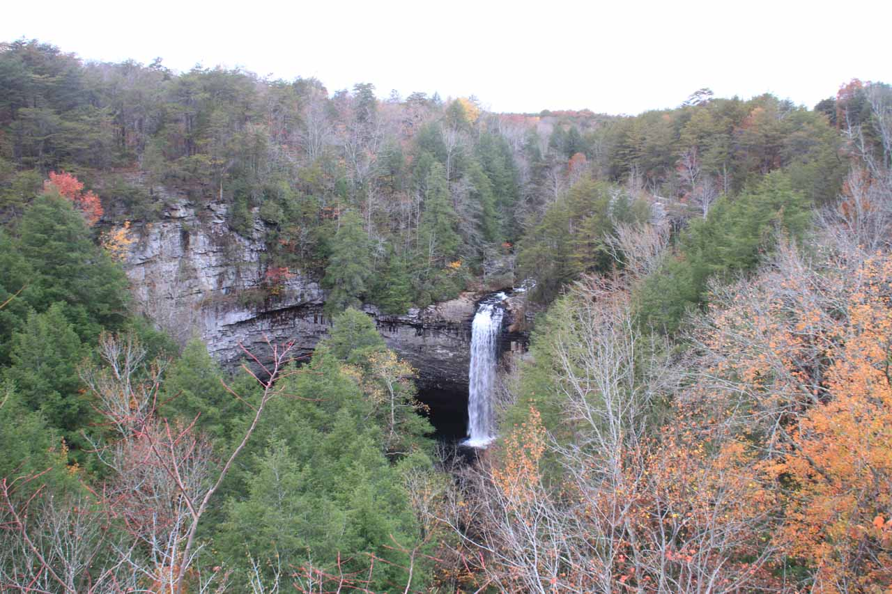 View of the falls from the overlook