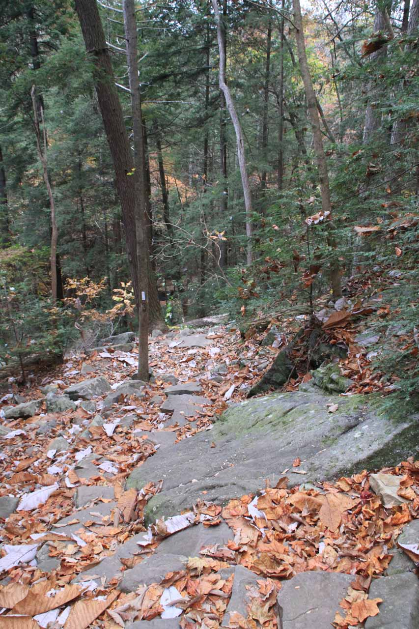 Rocky path to the base
