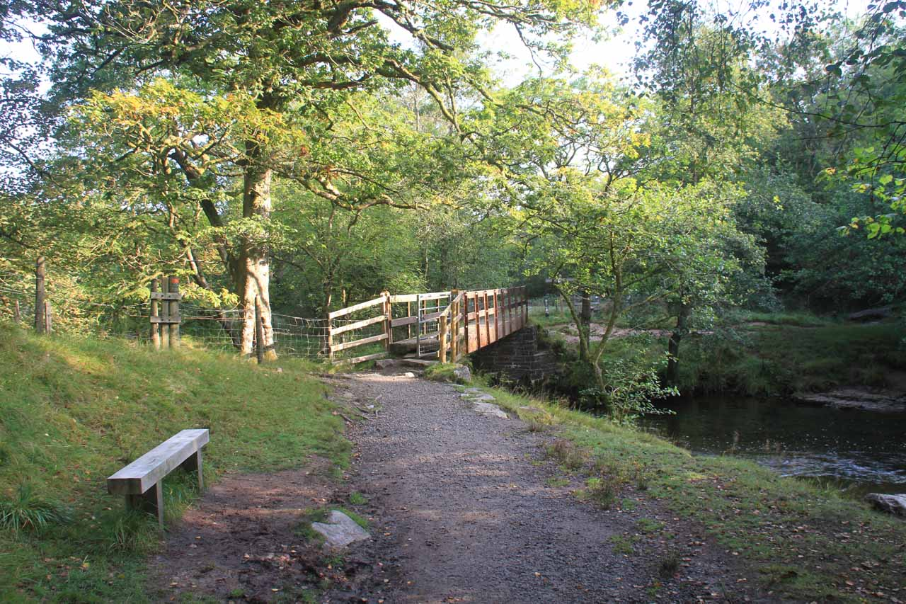 This was the bridge over the Afon Mellte which allayed any fear I had of having to ford the river given the obscure nature of the car park that I started from