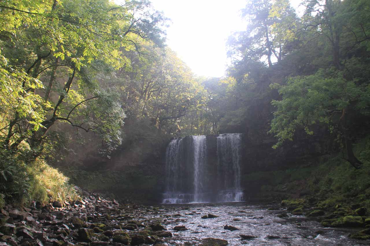 Full context of Sgwd yr Eira as I made one last look before making the climb back up