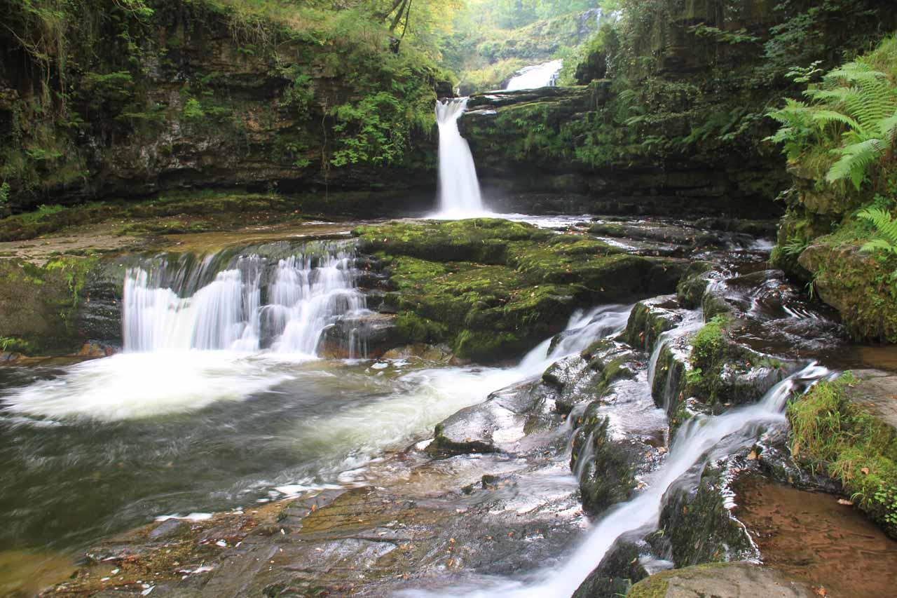 The lowermost cascades of Sgwd Isaf Clun-Gwyn
