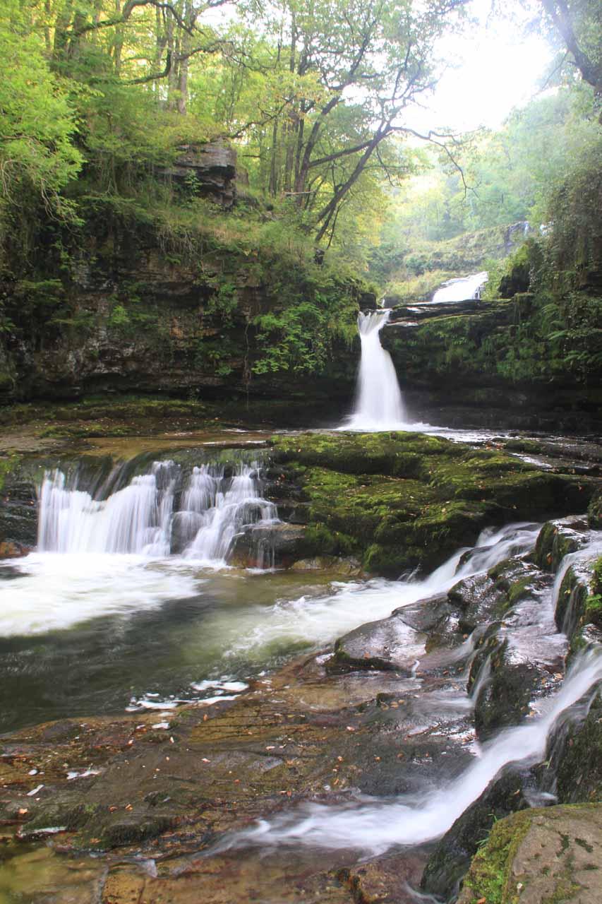 The attrative lower cascades of Sgwd Isaf Clun-Gwyn