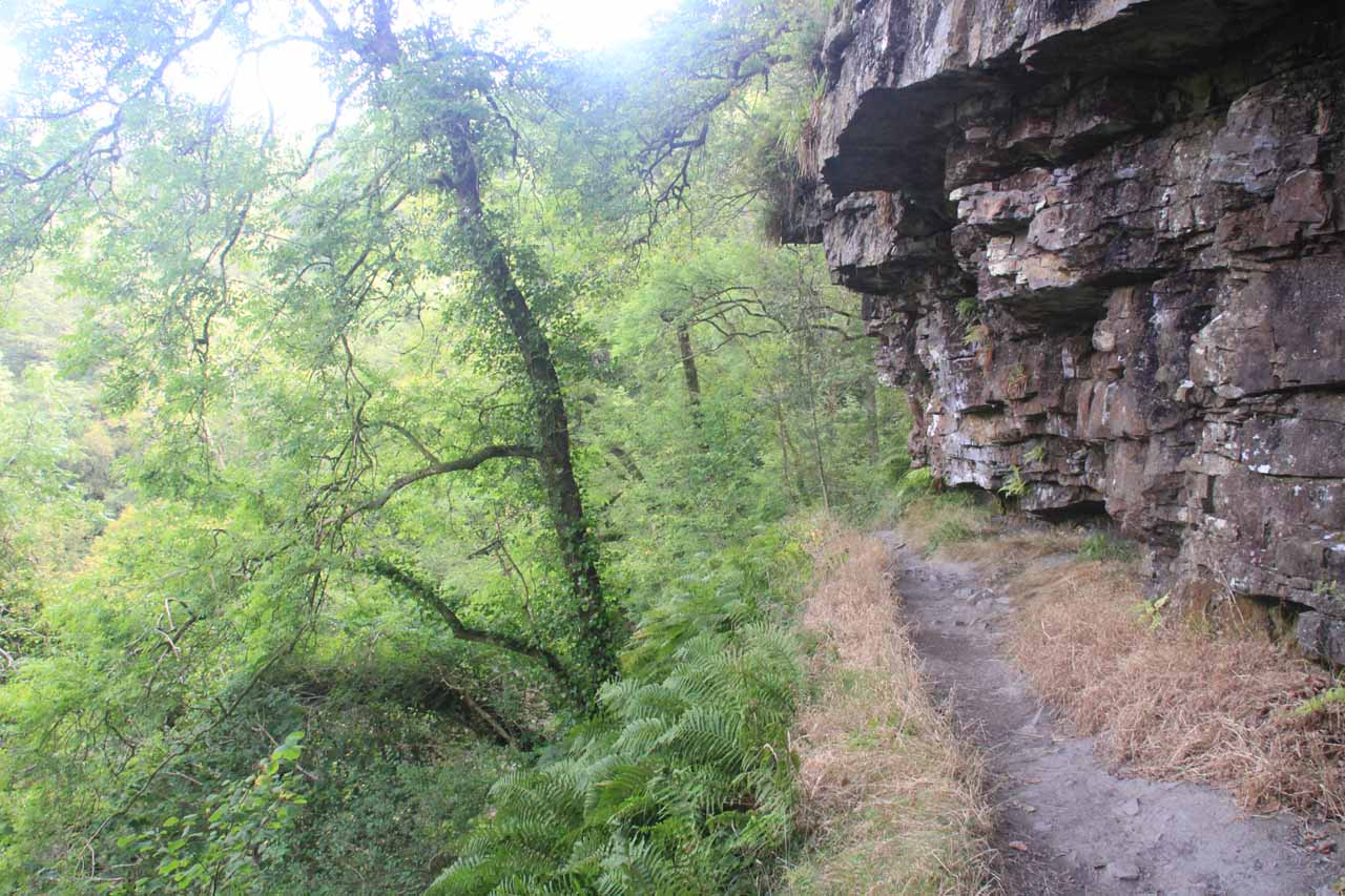 Still clinging onto narrow ledges as I was following the trail towards Sgwd Clun-Gwyn