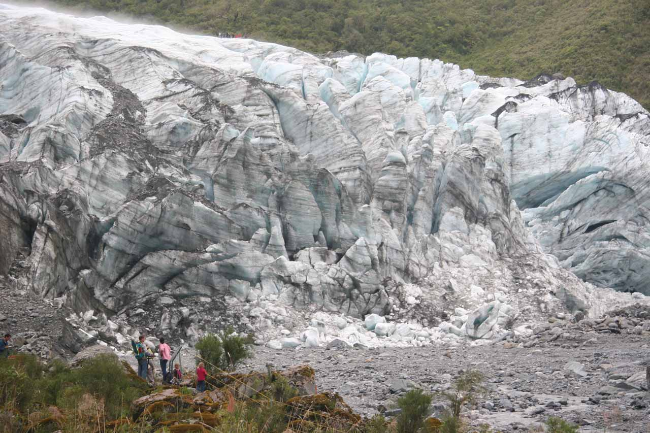 Now we were getting fairly close to the terminus of Fox Glacier