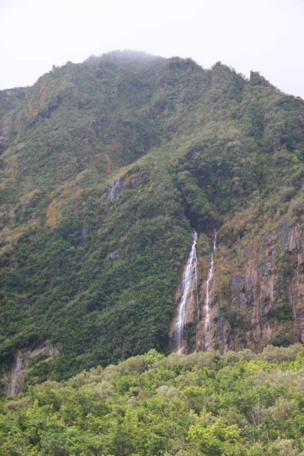 Fox_Glacier_107_12262009 - One of the waterfalls seen near the car park for the Fox Glacier Valley Walk