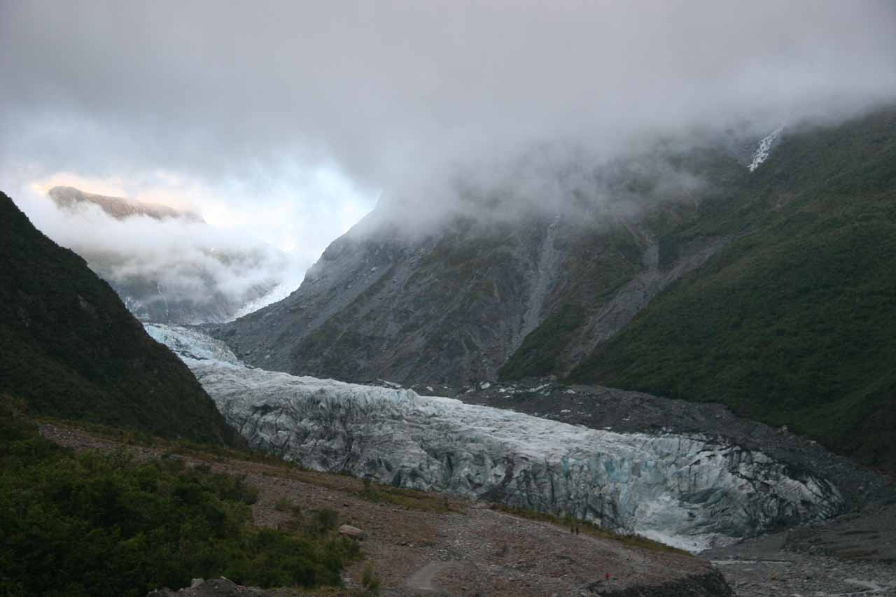 Our last look at the impressive Fox Glacier before we left for good