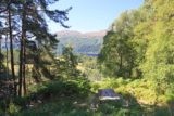 Foyers_007_08272014 - Looking down at a picnic table with a view towards Loch Ness in the distance as we started on the trail to the viewpoints for the Falls of Foyers