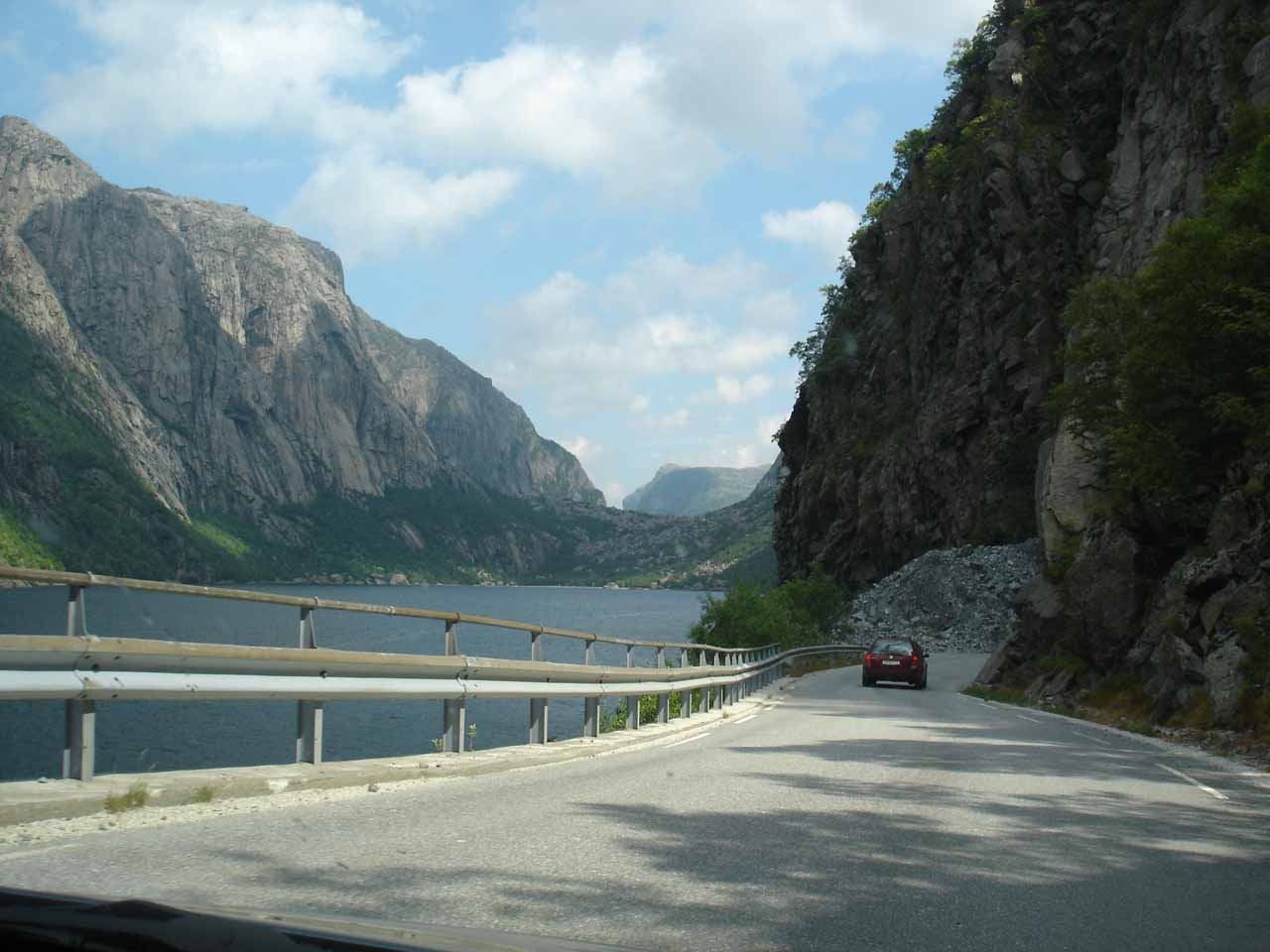 While on the county road along Frafjorden, we were driving narrower roads than what we were used to back at home