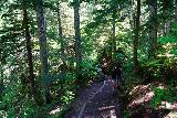 Franklin_Falls_096_06202021 - Julie and Tahia descending along the Franklin Falls Trail