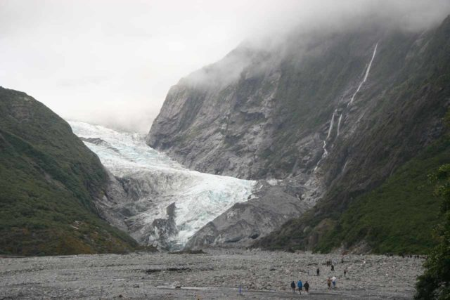 Franz_Josef_Glacier_156_12272009 - On the far north end of the long drive from Queenstown through the Haast River Valley was the Fox Glacier as well as the Franz Josef Glacier (shown here)