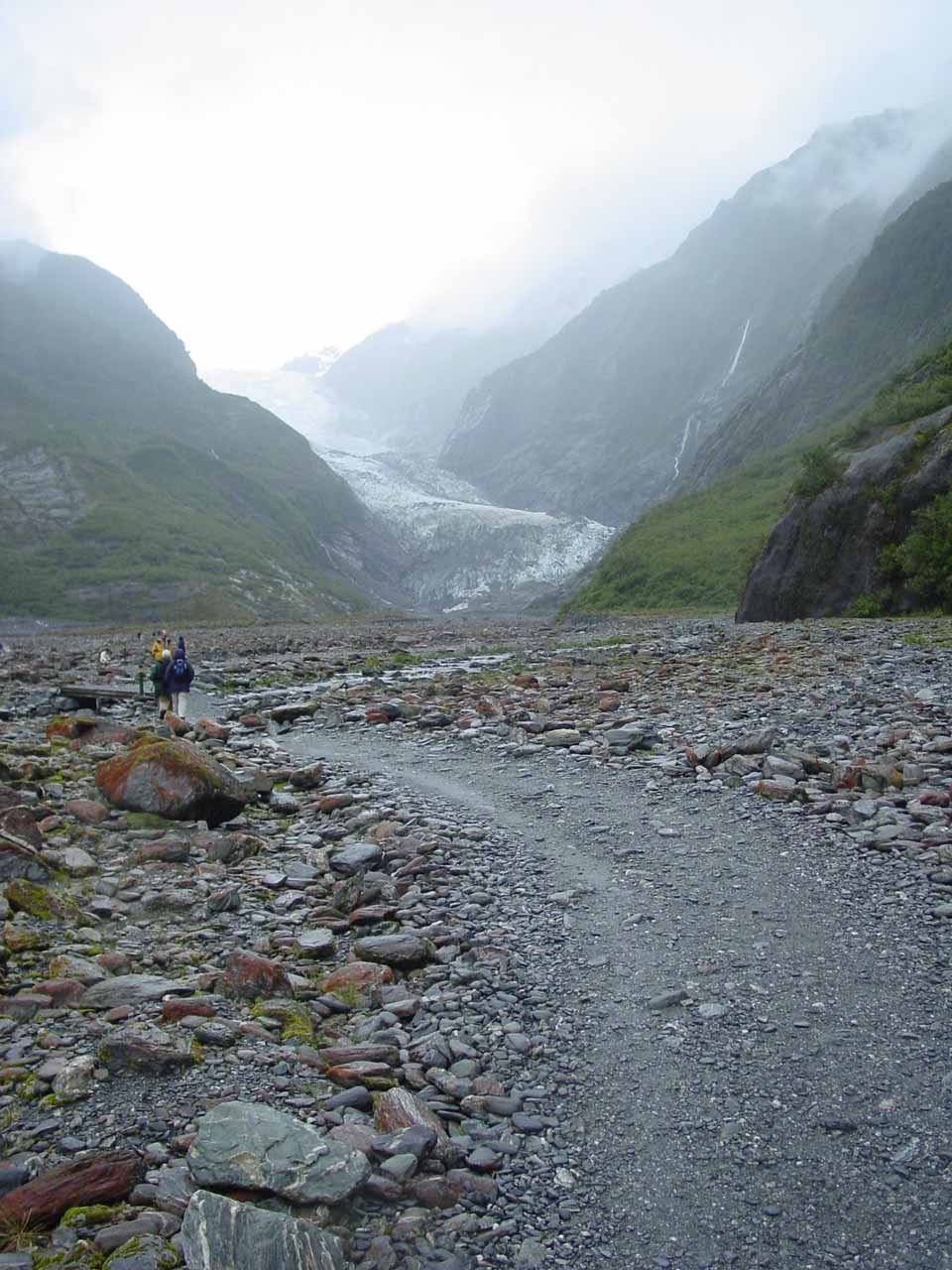 On the trail approaching the terminus of Franz Josef Glacier