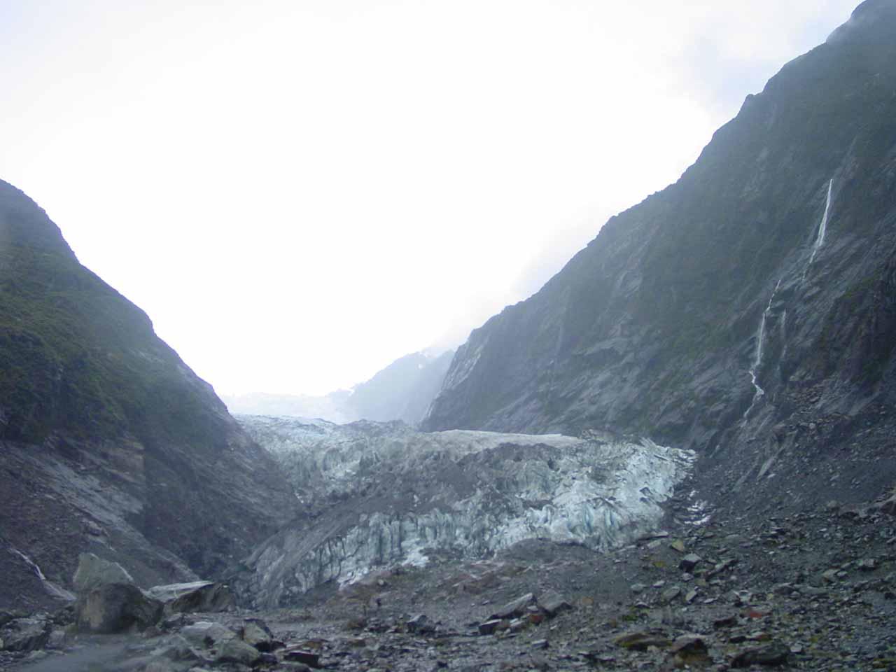 Approaching the Franz Josef Glacier terminus