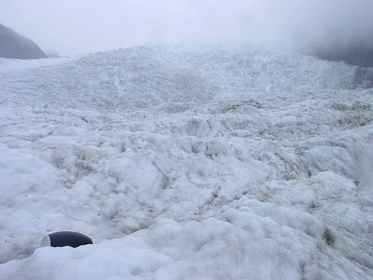 Looking up towards the top of the Franz Josef Glacier