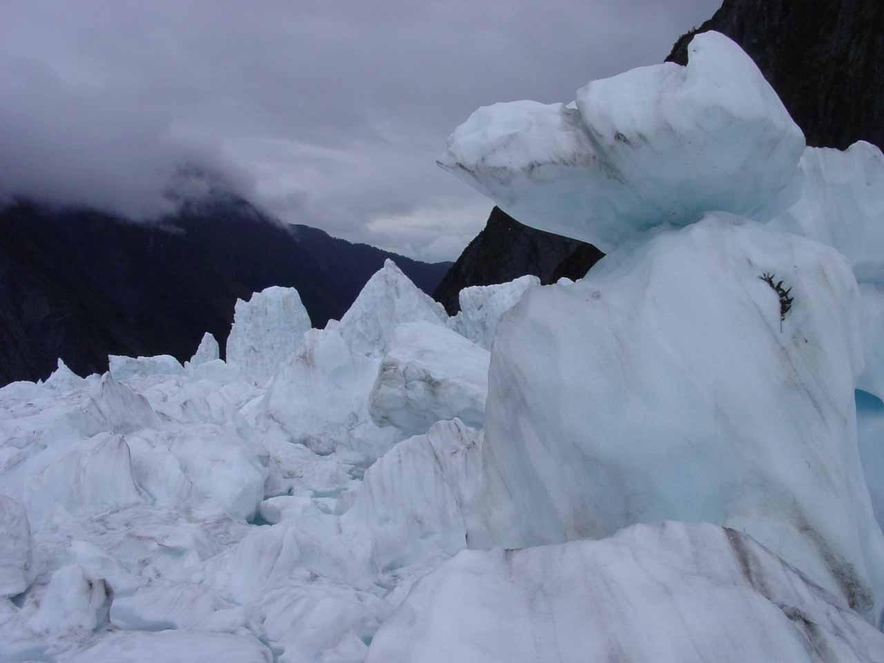 More jagged ice formations on the Franz Josef Glacier
